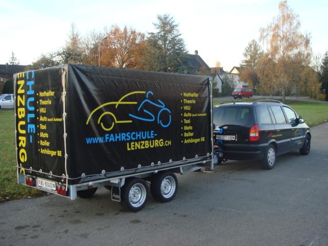 Neues von der Fahrschule Lenzburg, Anhängerfahrschule